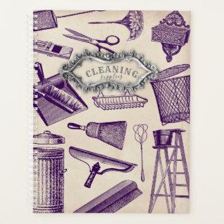 ヴィンテージのクリーンサプライのプランナー プランナー手帳