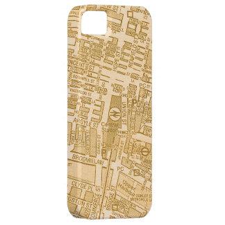 ヴィンテージのグラスゴー都市通りの地図入れ iPhone SE/5/5s ケース