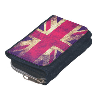 ヴィンテージのグランジなイギリスの旗の財布 ウォレット