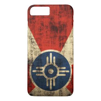 ヴィンテージのグランジなウィチタカンザスの旗 iPhone 8 PLUS/7 PLUSケース