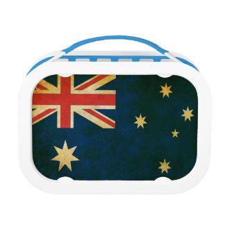 ヴィンテージのグランジなオーストラリアの旗 ランチボックス