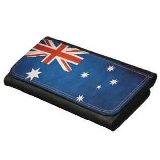 ヴィンテージのグランジなオーストラリアの旗 レザーウォレット