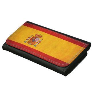 ヴィンテージのグランジなスペインの旗- Bandera de Espanaa レザーウォレット