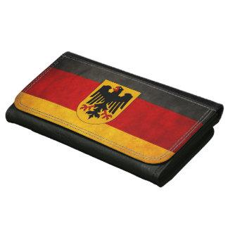 ヴィンテージのグランジなドイツの旗ドイツ旗 ウォレット