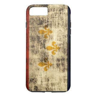 ヴィンテージのグランジなニュー・オーリンズの旗 iPhone 8 PLUS/7 PLUSケース