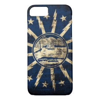 ヴィンテージのグランジなバッファローの旗ニューヨーク iPhone 8/7ケース