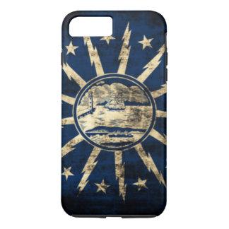 ヴィンテージのグランジなバッファローの旗ニューヨーク iPhone 8 PLUS/7 PLUSケース