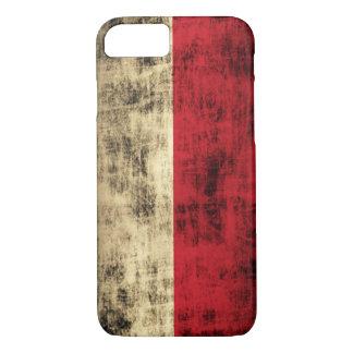 ヴィンテージのグランジなポーランドの旗 iPhone 8/7ケース