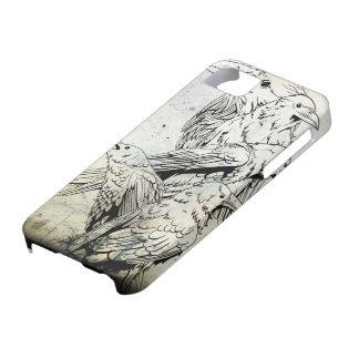 ヴィンテージのグランジなワタリガラスのIphone 5の場合 iPhone 5 ケース