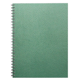 ヴィンテージのグランジな緑の革パターン ノートブック