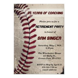 ヴィンテージのグランジな野球のコーチの退職の誕生日 カード