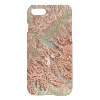 ヴィンテージのグレーシャー国立公園の地図 iPhone 8/7 ケース