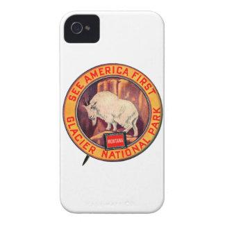 ヴィンテージのグレーシャー国立公園はアメリカを最初に見ます Case-Mate iPhone 4 ケース