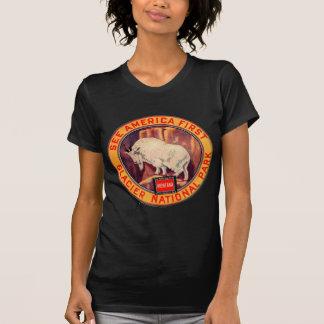 ヴィンテージのグレーシャー国立公園はアメリカを最初に見ます Tシャツ