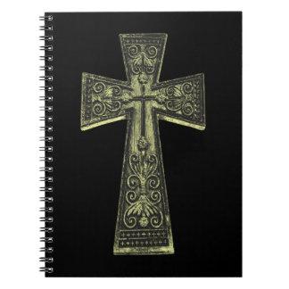 ヴィンテージのケルト族のゴシックの十字 ノートブック