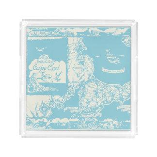 ヴィンテージのケープコッドの地図 アクリルトレー