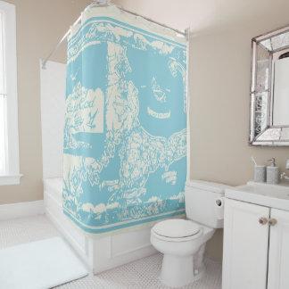 ヴィンテージのケープコッドの地図 シャワーカーテン