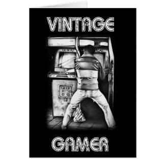 ヴィンテージのゲーマーのバースデー・カード カード