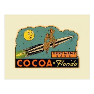 ヴィンテージのココアフロリダのミサイルの基盤の郵便はがき ポストカード