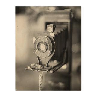 ヴィンテージのコダックカメラのプリント ウッドウォールアート