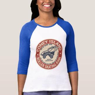 ヴィンテージのコニーアイランドのローラーのリンク Tシャツ