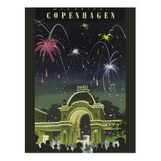 ヴィンテージのコペンハーゲン旅行ポスター郵便はがき ポストカード