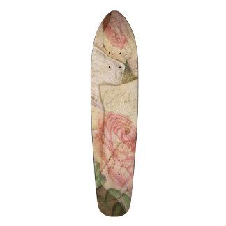 ヴィンテージのコラージュ、フランスのな手紙および郵便はがき スケートボード