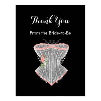ヴィンテージのコルセットの個人的なブライダルシャワーありがとう ポストカード