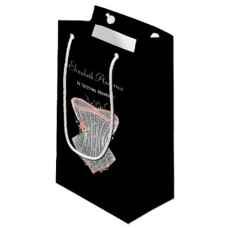 ヴィンテージのコルセットの個人的なランジェリーのブライダルシャワー スモールペーパーバッグ