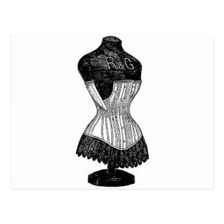 ヴィンテージのコルセットの服の型枠 ポストカード