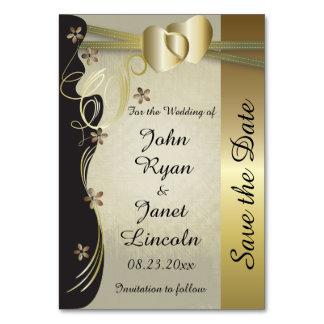 ヴィンテージのコレクションを結婚する上品な金ゴールドのハート カード