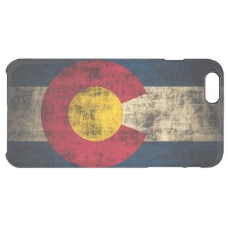 ヴィンテージのコロラド州のグランジな州の旗 クリア iPhone 6 PLUSケース