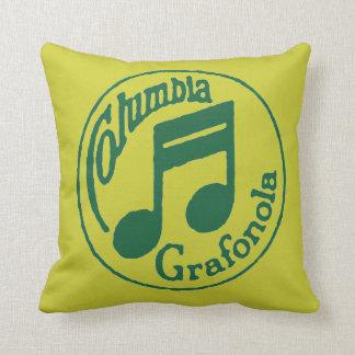 ヴィンテージのコロンビアGrafonola音楽は枕に注意します クッション
