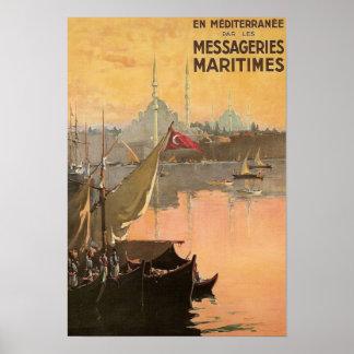 ヴィンテージのコンスタンチノープル旅行広告 ポスター