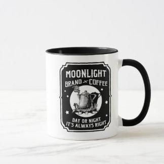 ヴィンテージのコーヒーラベルのマグの月の月光 マグカップ