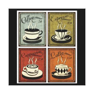 ヴィンテージのコーヒー芸術のプリント キャンバスプリント