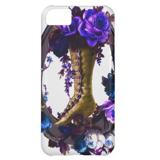 ヴィンテージのゴシックの花のブーツ及び幸運な蹄鉄 iPhone5Cケース