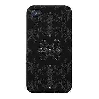 ヴィンテージのゴシック様式優雅の宝石 iPhone 4/4Sケース