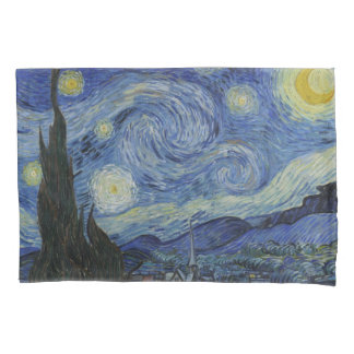 ヴィンテージのゴッホの星明かりの夜 枕カバー