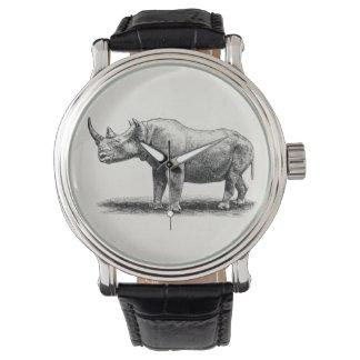 ヴィンテージのサイのイラストレーションのサイのサイ 腕時計