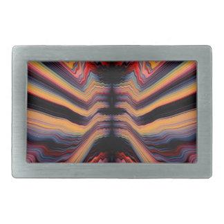 ヴィンテージのサイケデリックなパターン 長方形ベルトバックル