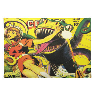 ヴィンテージのサイファイの漫画のランチョンマット ランチョンマット