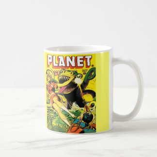 ヴィンテージのサイファイの漫画の(黄色い)白いマグ コーヒーマグカップ