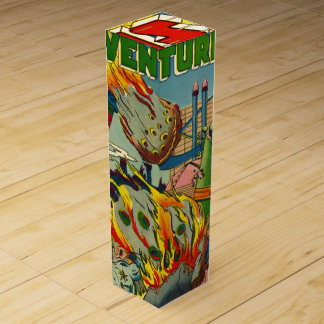 ヴィンテージのサイファイの漫画(宇宙の冒険) ワインギフトボックス