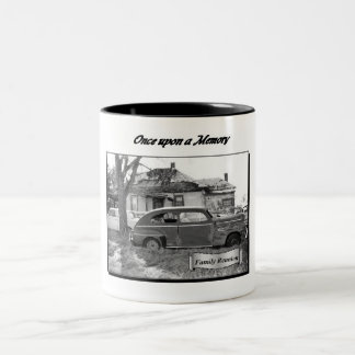 ヴィンテージのサウスダコタの町のマグ ツートーンマグカップ