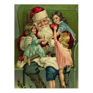ヴィンテージのサンタのクリスマスの郵便はがき ポストカード