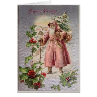 ヴィンテージのサンタのクリスマスカードは、それをカスタマイズ カード