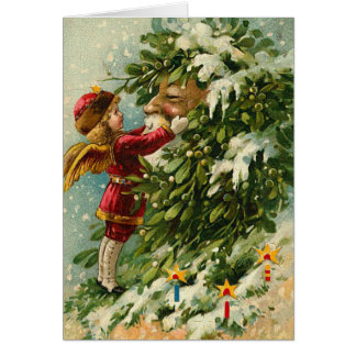 ヴィンテージのサンタのクリスマスカード カード