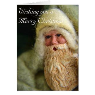 ヴィンテージのサンタのクリスマスカード グリーティングカード