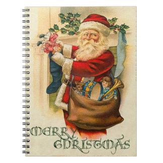 ヴィンテージのサンタのクリスマス ノートブック